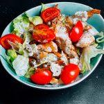 koolhydraatarme salade met kip recept